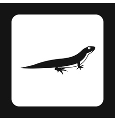 Little lizard icon simple style vector