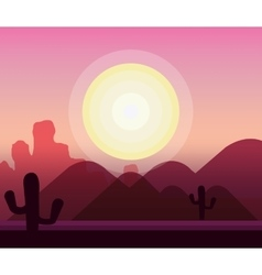 Desert natural landscape vector