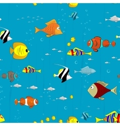 sea ocean pattern coral fish exotic tropical vector image