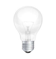 Light bulb isolated on white vector