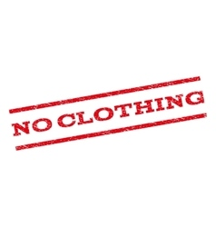 No clothing watermark stamp vector