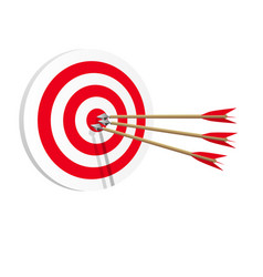 Target icon art web success in business concept vector