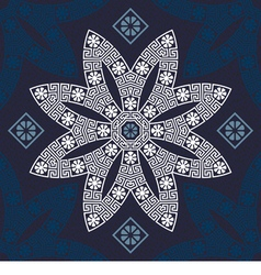 Seamless traditional vintage white greek ornament vector