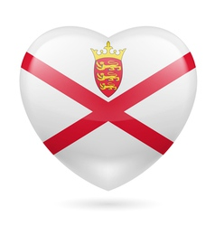 Heart icon of jersey vector