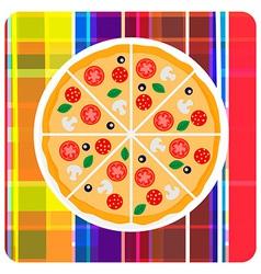 clip art of italian pizza on t vector image