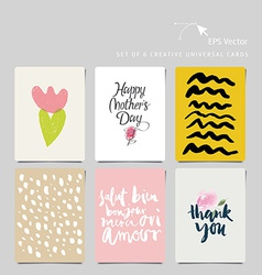 Creative universal card vector