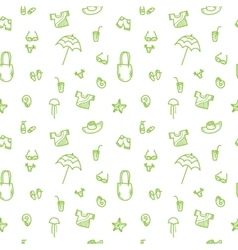 Hand drawn summer seamless pattern green vector