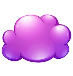 Purple cloud on white vector