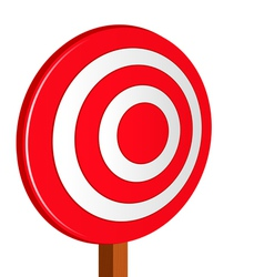 red target vector image