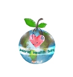 World health day 7 april globe infographics vector