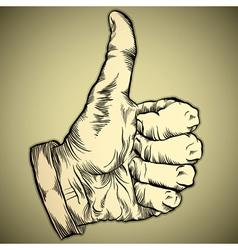 Thumb up like hand symbol vector
