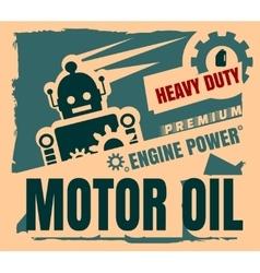 Vintage label design template motor oil vector