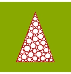 Dotted christmas tree vector