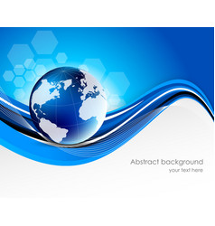 Abstract tech background with globe vector