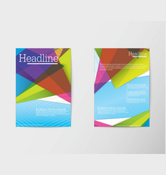 Abstract triangle brochure flyer design in a4 size vector