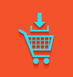 Add to shopping cart sign whitish icon on vector