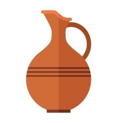Alcohol drink wine bottle vector image