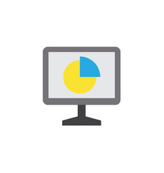 Analytics flat icon symbol premium quality vector