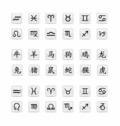 Astrological zodiac sign set vector