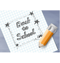 Back to school drawing on paper vector