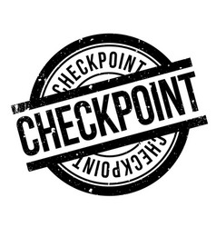 Checkpoint rubber stamp vector