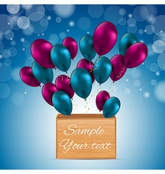 Color Glossy Balloons Card vector image vector image