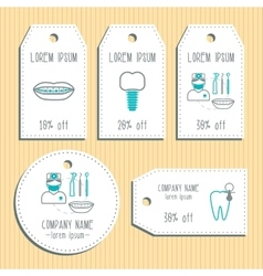 Den discount gift tags ready to use flat design vector