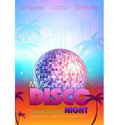 Disco poster bsckground vector