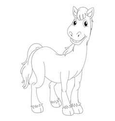 Doodle animal for horse vector