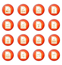 File format icons set vector