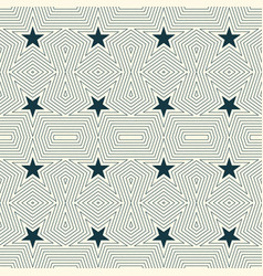geometric seamless pattern with stars vector image vector image