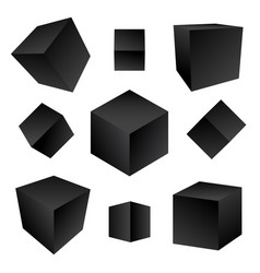 Glossy platonic solids set vector