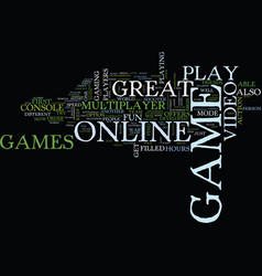 Great online video games that you should play vector