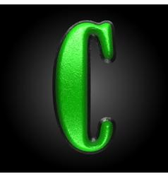 Green plastic figure c vector
