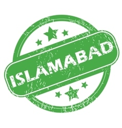 Islamabad green stamp vector