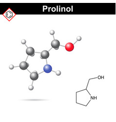 Proninol amino alcohol chmical structure vector