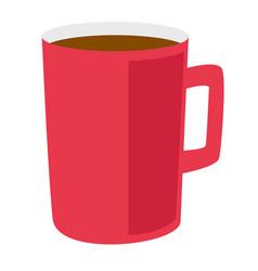 Red coffee cup cartoon vector