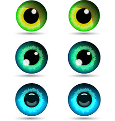 set of three pair of eyes vector image