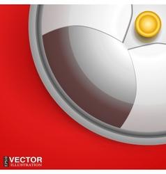 silver serving dome or Cloche vector image