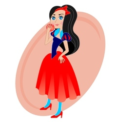 snow white vector image