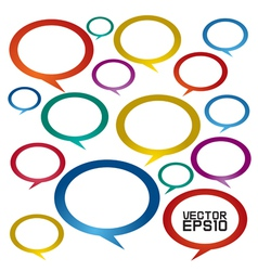 Speech bubbles EPS10 vector image vector image
