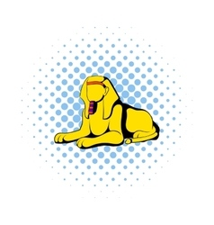 Sphinx icon in comics style vector
