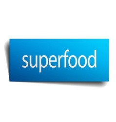 Superfood blue paper sign on white background vector