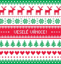 Vesele Vanoce- Merry Christmas card in Czech vector image vector image