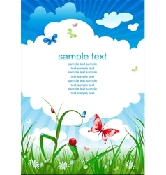 Summer sky background vector