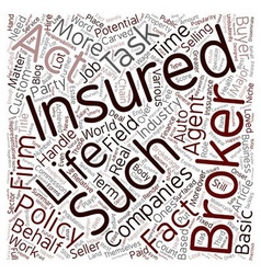 The major task of insurance brokers text vector