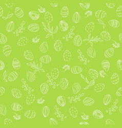 Easter eggs floral pattern vector