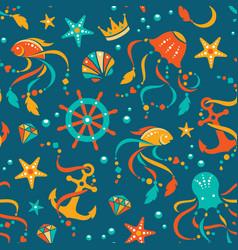 ocean treasures seamless pattern vector image