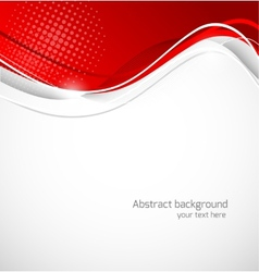 Abstract wavy background in red color vector