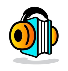 Audio book sign vector